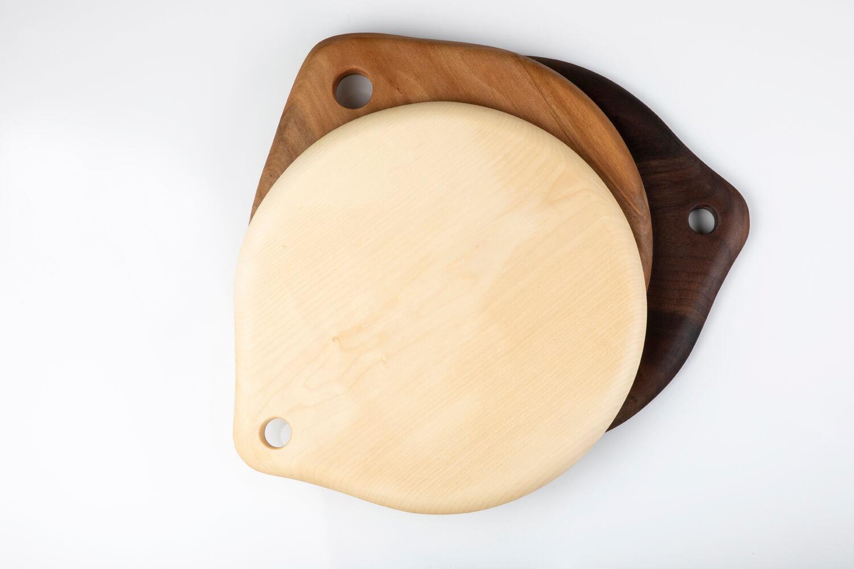 planche bois ronde fait main
