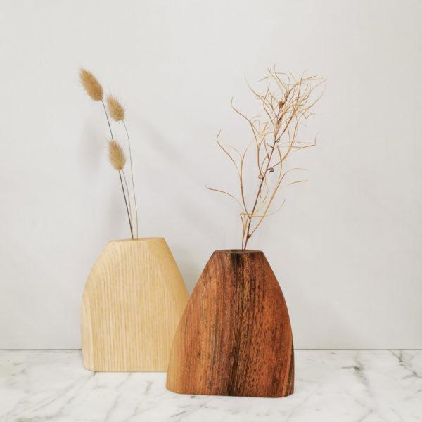 du de soliflores en bois decoration