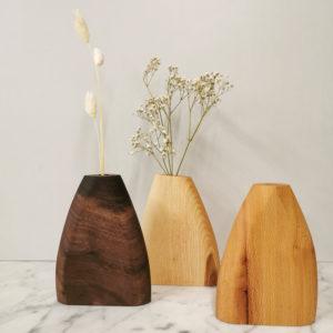 soliflore en bois deco