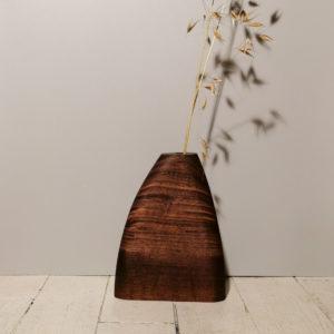 vase bois noyer noir