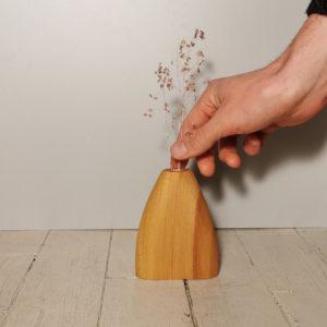 vase fleur seche en bois