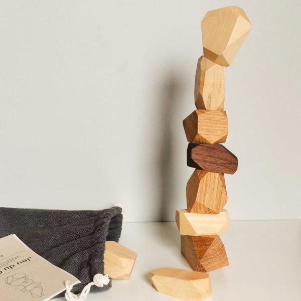 jeu cairn en bois